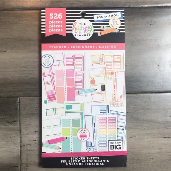 The Happy Planner Teacher Sticker Book NWT